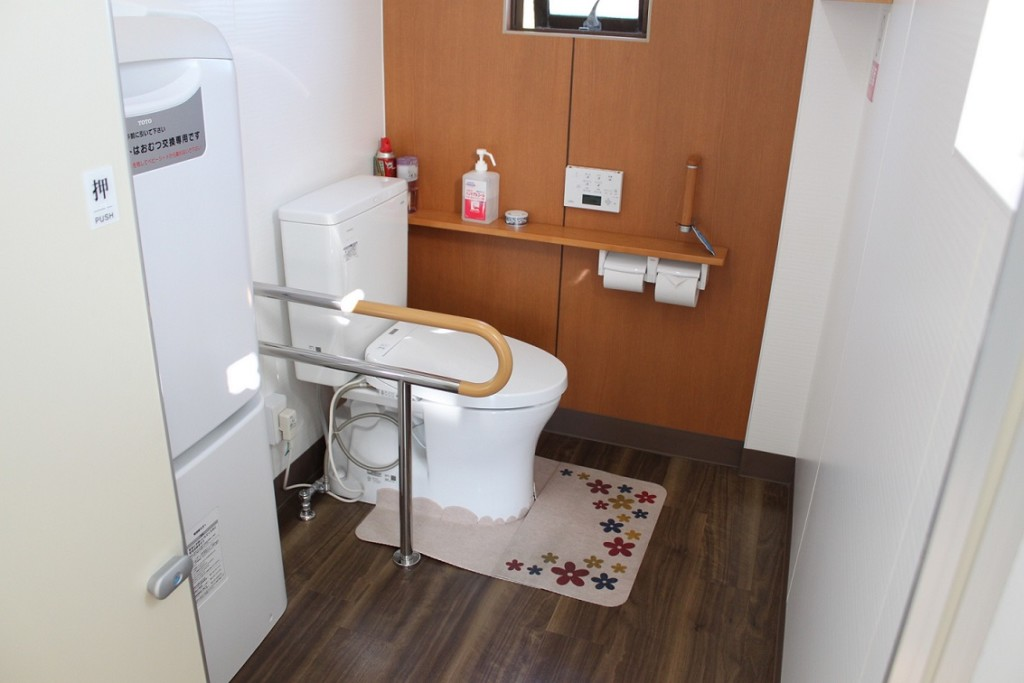障害者に配慮したトイレ